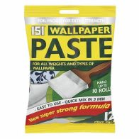 See more information about the 151 Wallpaper Paste Strong Adhesive 10 Roll Pack 12 Pints