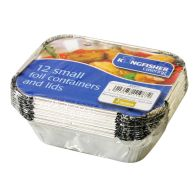 See more information about the Kingfisher Small Foil Containers With Lids (Pack 12)