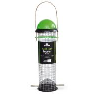 See more information about the Tom Chambers Roll - Top Peanut Feeder 4 Port Green-Black