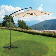 See more information about the Croft 3M Beige Garden Crank Overhang Parasol