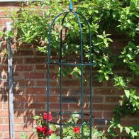 See more information about the 1.9m Garden Obelisk Green Plant Support