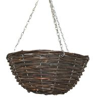 See more information about the 14 Inch Hanging Rattan Basket Black