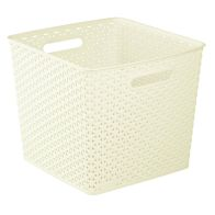 See more information about the 25L Curver My Style Rattan Basket - Cream