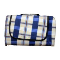 See more information about the Fleece Picnic Blanket (125cm x 150cm) - Blue & Beige