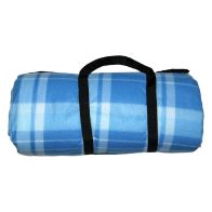 See more information about the Jumbo 3 x 4M Picnic Blanket - Blue Check Patten