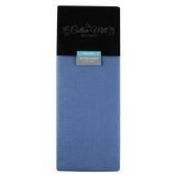 See more information about the Cotton Mill Blue Double Poly Cotton Fitted Sheet