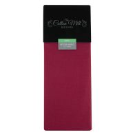 See more information about the Cotton Mill Raspberry King Poly Cotton Fitted Sheet