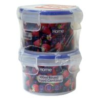 See more information about the 2 Pack 300ml Round Food Containers