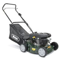 See more information about the Webb Classic 118cc Push Petrol Lawn Mower 41cm With 50 Litre Collector