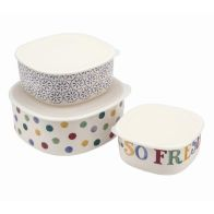 See more information about the Emma Bridgewater Polka Dot Melamine 3 Set Kitchen Storage Containers
