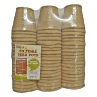 See more information about the 60 Pack Growing Patch 6cm Fibre Seed Pots