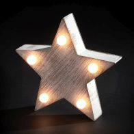 See more information about the 5 LED Warm White Indoor Rustic Star Light Decoration Battery 11x10cm