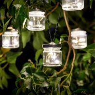 See more information about the Smart Solar 10 String Solar Firefly Jar String Lights