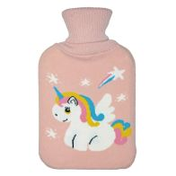 See more information about the 2 Litre White Unicorn Stars Pink Hot Water Bottle