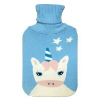 See more information about the 2 Litre White Unicorn Stars Blue Hot Water Bottle