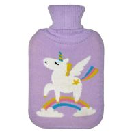 See more information about the 2 Litre White Unicorn Rainbow Purple Hot Water Bottle