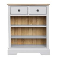 See more information about the Olivia Oak 2 Drawer Bookcase