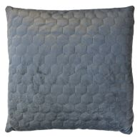 See more information about the Grey Dim Out Embroided Velvet Style Cushion 45 x 45cm