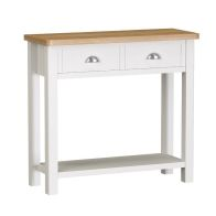 See more information about the Jasmine White 2 Drawer Console Table