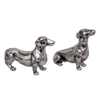 See more information about the Sausage Dog Ornament  -  Silver  Coloured