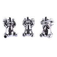 See more information about the Set 3 Elephant Ornaments - Silver Coloured