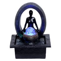 See more information about the Meditate & Ball Table Top Water Fountain With LED