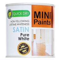 See more information about the Mini Paints Quick Dry Satin Paint 215ml - Pure White