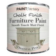 See more information about the Paint Factory Chalk Finish Furniture Matt Paint 250ml - Oriental Pink