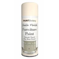 See more information about the Paint Factory Chalk Finish Furniture Matt Spray Paint 400ml - Clotted Cream