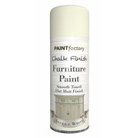 See more information about the Paint Factory Chalk Finish Furniture Matt Spray Paint 400ml - Antique White