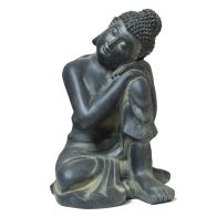See more information about the Clay Buddha Garden Statue 26.5 x 24 x 36.5cm