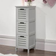See more information about the Bergen 3 Drawer Slim Storage Unit Grey