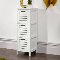 See more information about the Bergen 3 Drawer Slim Storage Unit White