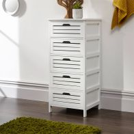 See more information about the Bergen 5 Drawer Wide Storage Unit White