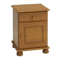 See more information about the 1 Drawer 1 Door Solid Pine Table Cabinet