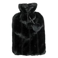 See more information about the 2 Litre Hot Water Bottle with Fur Cover - Black
