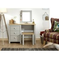 See more information about the Lancaster Dressing Table Set - Grey