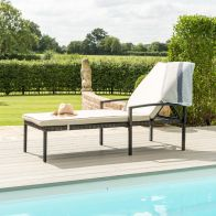 See more information about the Austin Garden Sunlounger Brown