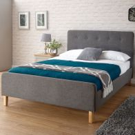 See more information about the Ashbourne Fabric King Size Bed 5ft Grey Bedstead