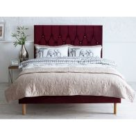 See more information about the Catherine Lansfield Velvet Red 3ft Single Bed Frame