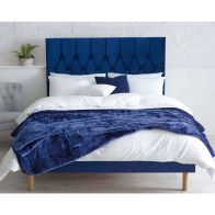 See more information about the Catherine Lansfield Velvet Blue 3ft Single Bed Frame