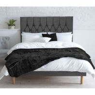 See more information about the Catherine Lansfield Velvet Grey 3ft Single Bed Frame