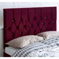 See more information about the Catherine Lansfield Boutique Red 5ft King Size Bed Headboard