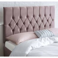 See more information about the Catherine Lansfield Boutique Pink 5ft King Size Bed Headboard