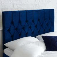 See more information about the Catherine Lansfield Boutique Blue 5ft King Size Bed Headboard
