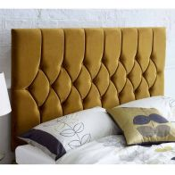 See more information about the Catherine Lansfield Boutique Gold 5ft King Size Bed Headboard