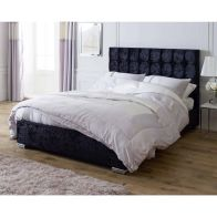 See more information about the Lansfield Gatsby Classic Pine Black 4ft 6in Double Bed Frame