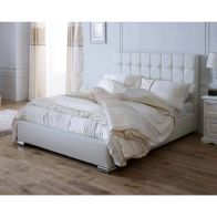 See more information about the Lansfield Gatsby Classic Pine White 4ft 6in Double Bed Frame