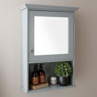 See more information about the Colonial Mirrored Cabinet - Grey
