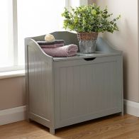 See more information about the Colonial MDF Grey Bathroom Storage Hamper